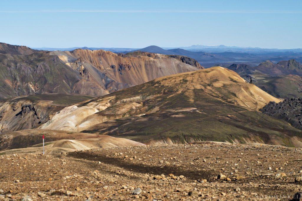 Aussicht über die Rhyolith-Berge in Landmannalaugar
