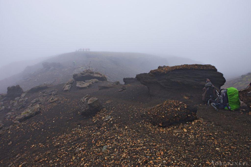 laugavegur versinkt im nebel