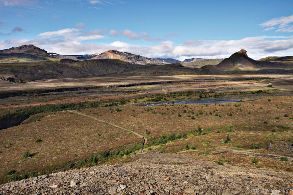 Blick über den Trekkingpfad Laugavegur in Island