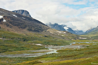 view over the northern part of the green valley Rapadalen