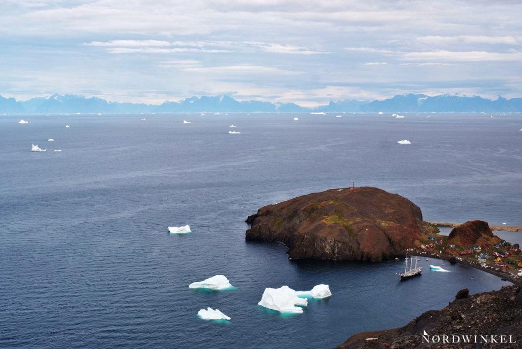 blick über den riesigen uummannaqfjord