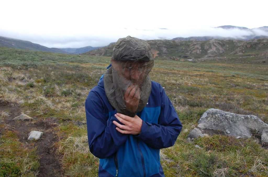 konrad isst einen schokoriegel unter seinem mosquitonetz